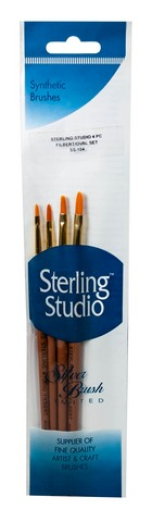 Sterling Studio Filbert/Oval Brush Set 4Pcs