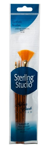 Sterling Studio Basic #1 Brush Set 4Pcs