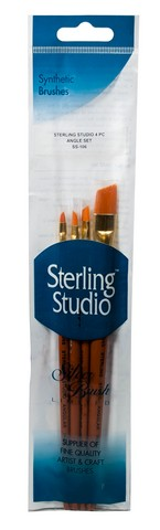 Sterling Studio Angular Brush Set 4Pcs