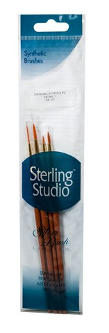 Sterling Studio Detail #1 Brush Set 4Pcs