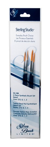 Sterling Studio L Incher Brush Set 4Pcs