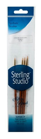 Sterling Studio Round Basic Brush Set 4Pcs