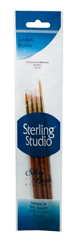 Sterling Studio Detail #2 Brush Set 4Pcs