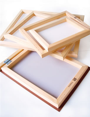 12 x 16 Screen Printing Frame With Fabric