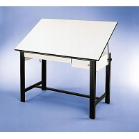 Alvin Drafting Table Designmaster Black 37.5X60 Top And Drawers
