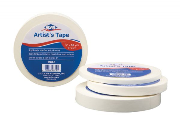 Alvin Artists Tape 1/2 inch x 60yds