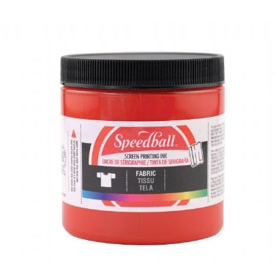 Speedball 8 oz. Fabric Screen Printing Ink Red