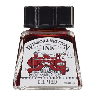 Winsor & Newton Drawing Ink 14ml Deep Red