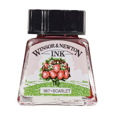 Winsor & Newton Drawing Ink 14ml Scarlet