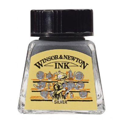 Winsor & Newton Drawing Ink 14ml Silver