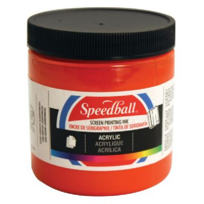 Speedball 8 oz. Acrylic Screen Printing Ink Fire Red