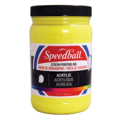Speedball Acrylic Screen Printing Ink Process Yellow 32oz