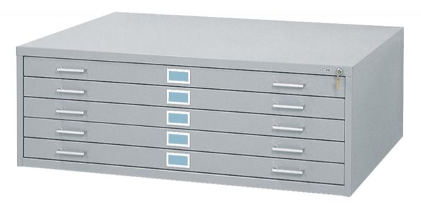 5-Drawer Gray Steel Flat File by Safco
