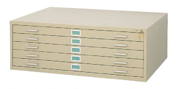 5-Drawer Sand Steel Flat File by Safco®