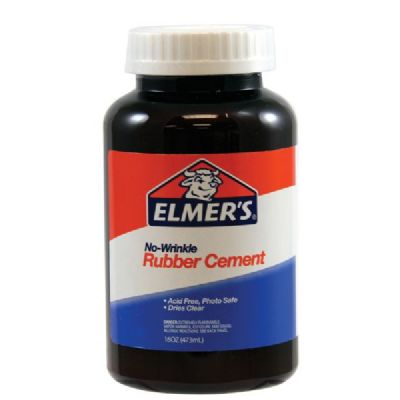 Elmer's No-Wrinkle Rubber Cement 16oz