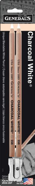 General's Charcoal White Pencils 2-Set
