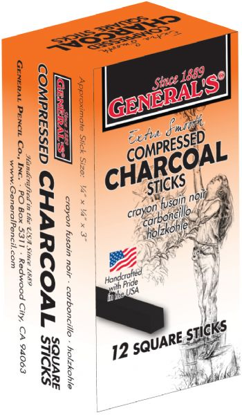 General's Compressed Charcoal Sticks 4B