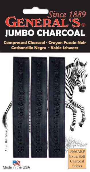 General's Extra-Soft Compressed Charcoal Sticks