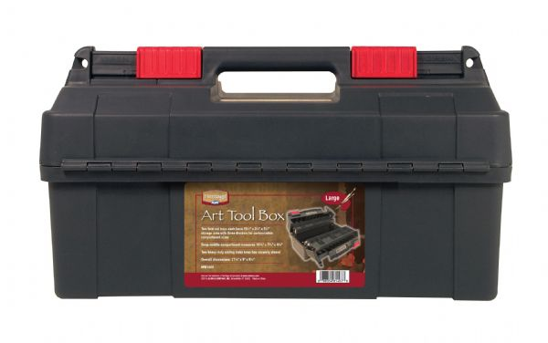 "Large Art Tool Box 17 3/4"" x 9"" x 9 1/2"" by Heritage Arts"