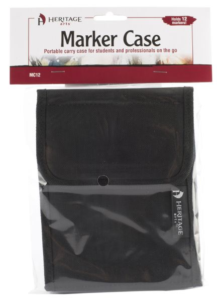 Marker Case Holds 12 by Heritage Arts