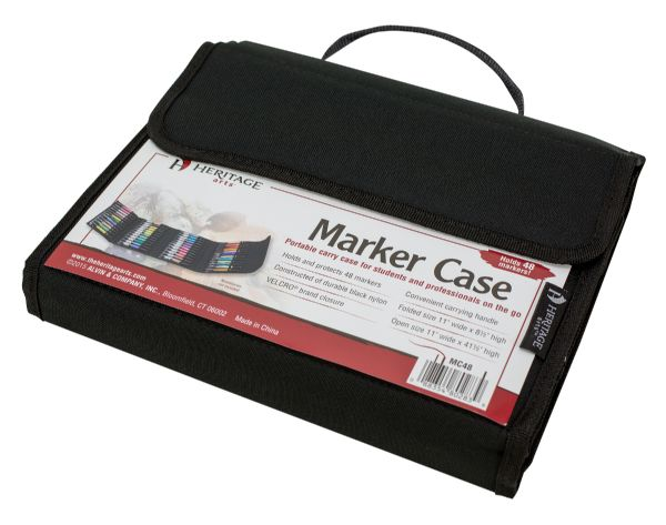 Marker Case Holds 48 by Heritage Arts