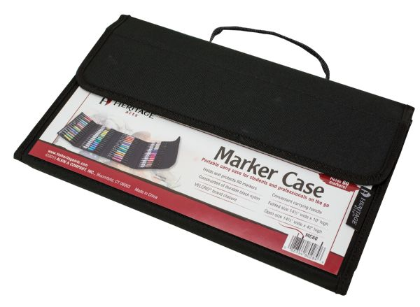 Marker Case Holds 60 by Heritage Arts