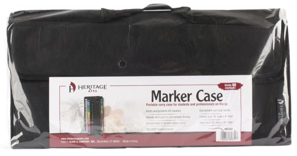 Vertical Marker Case Holds 60 by Heritage Arts