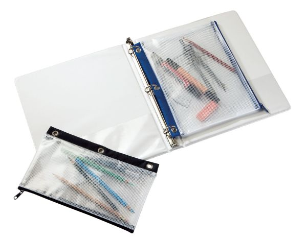 "3-Ring Binder Mesh Bag 5"" x 10"" by Alvin"
