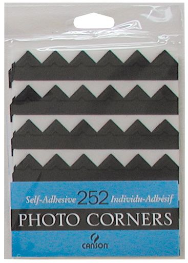 Canson Archival Self-Adhesive Photo Corners Black