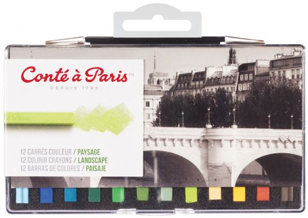 Conte 12-Color Landscape Set