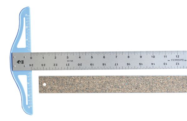 Fairgate Cork Backed Standard T-Square 12 inch