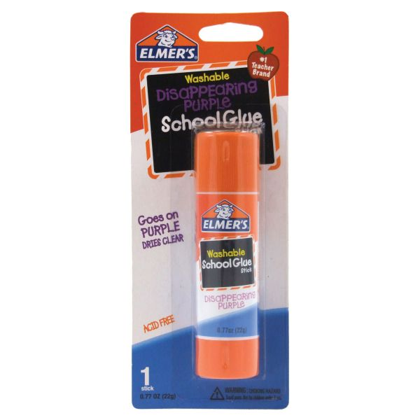 Elmer's Washable Disappearing Purple Glue Stick .77oz