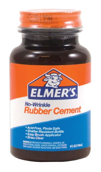 Elmer's No-Wrinkle Rubber Cement 4oz