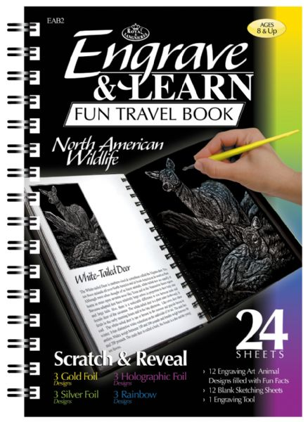 Royal & Langnickel Engrave & Learn Fun Travel Book North American Wildlife