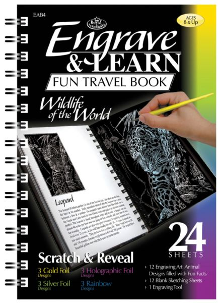 Royal & Langnickel Engrave & Learn Fun Travel Book Wildlife of the World