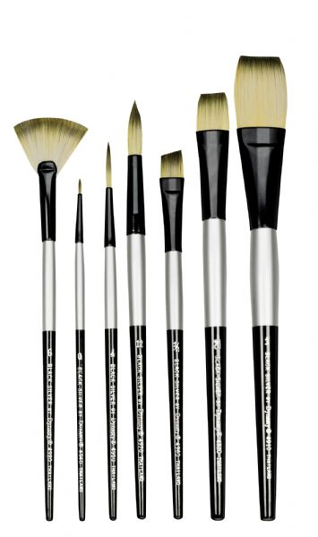 Dynasty Black Silver Watercolor Brush