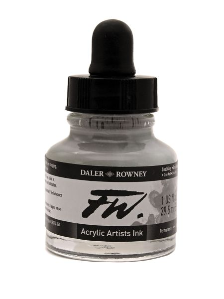 FW Liquid Artists' Acrylic Ink 1 oz. White