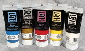 Speedball Water Soluble Block Printing Ink Red 1.25 oz