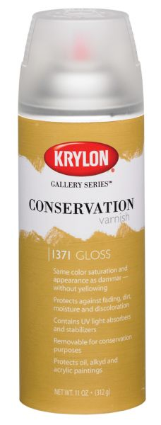 Krylon Gallery Series Conservation Varnish Spray Gloss