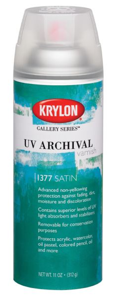 Krylon Gallery Series UV Archival Varnish Spray Satin