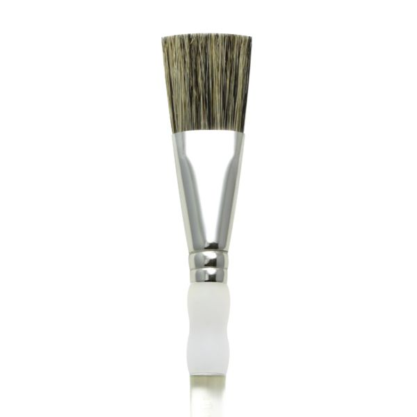 Pack of 3 Royal & Langnickel Soft Grip Stiff Hog Bristle Glaze Brush 1