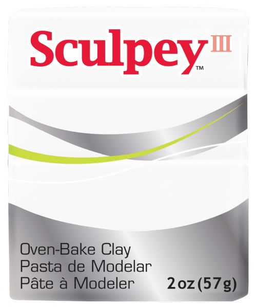 Sculpey III Polymer Clay White