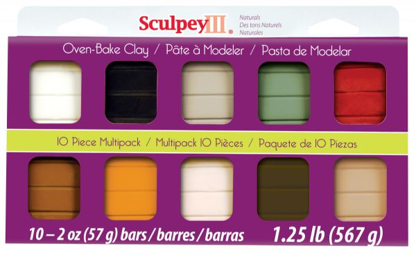 Sculpey III Polymer Clay Multipack Natural