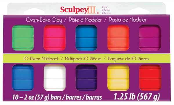 Sculpey III Polymer Clay Multipack Bright