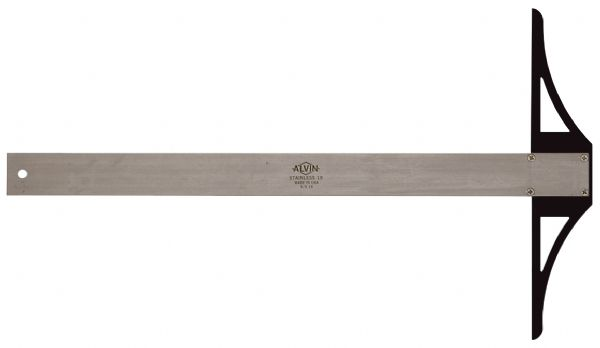 Alvin S/S Series 48 inch Stainless Steel Professional T-Square