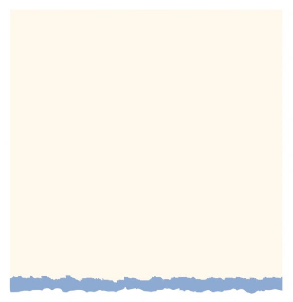 3.5 x 4.875 White Blue Deckle Creative Cards