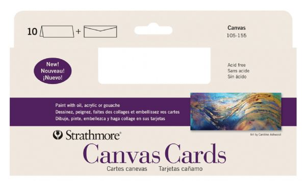 "Slim Size Canvas Cards 3.75"" x 9"""