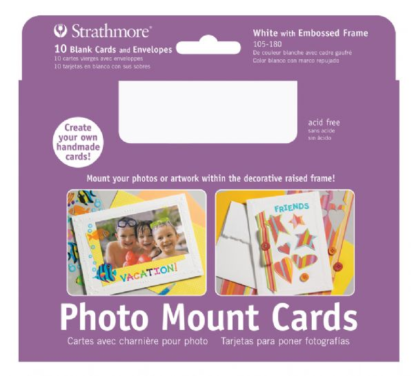 Photo Mount Cards 10-Pack White