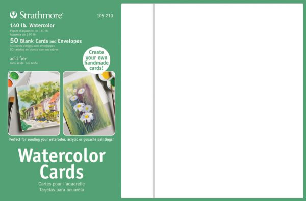 5 x 6.875 Watercolor Cards and Postcards 50-Pack
