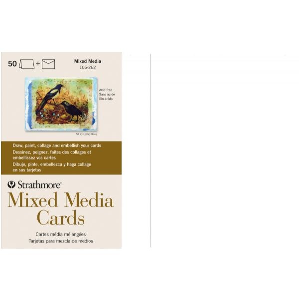 Mixed Media Full Size Cards 50-Pack